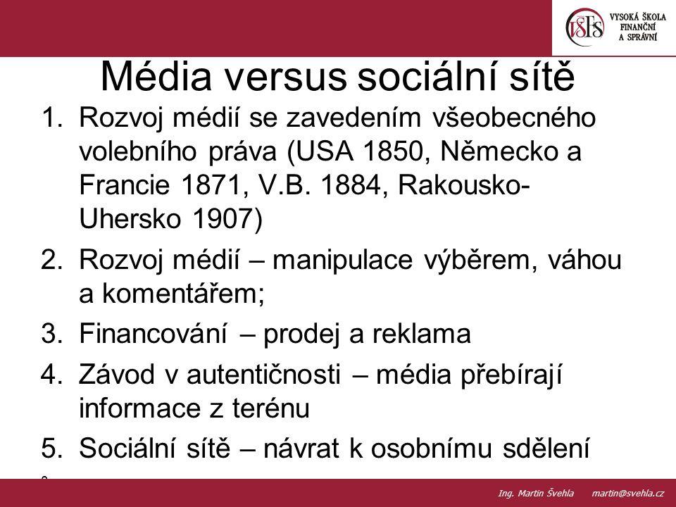 Média versus sociální sítě