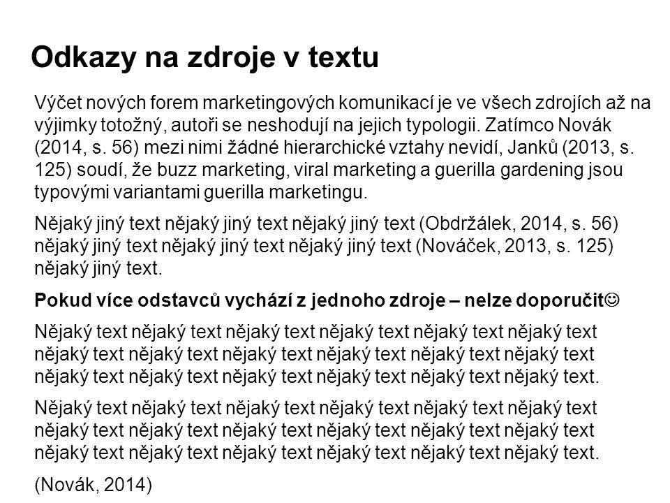 Odkazy na zdroje v textu