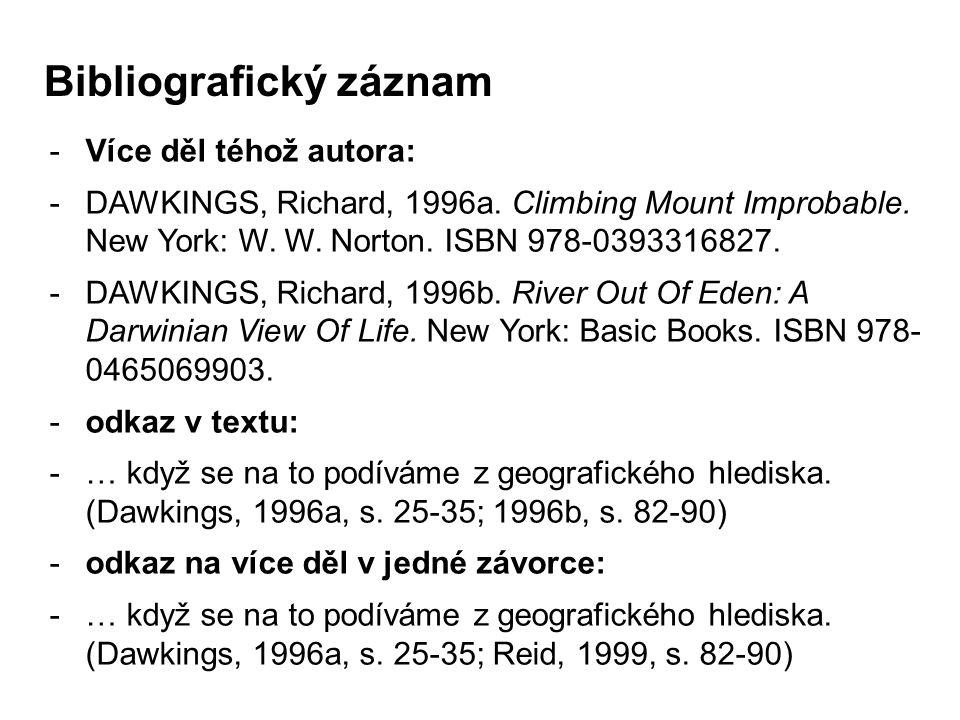 Bibliografický záznam