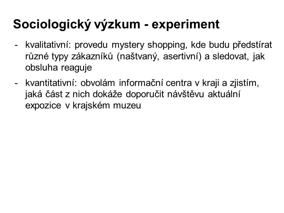 Sociologický výzkum - experiment