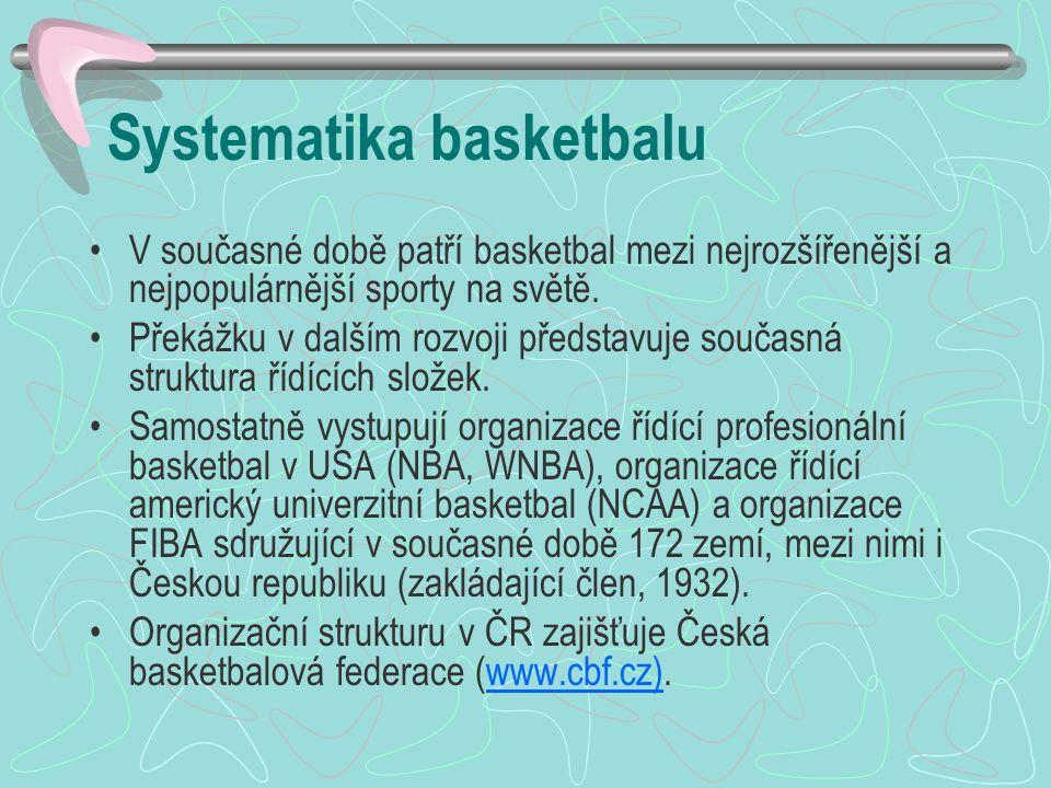 Systematika basketbalu