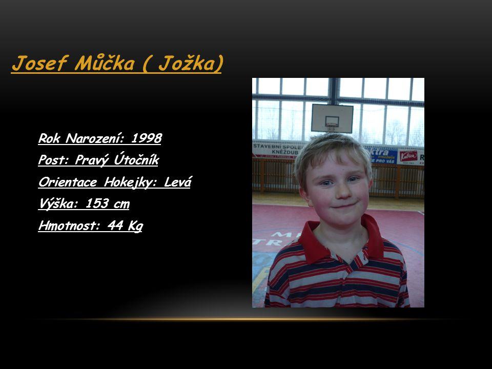 Josef Můčka ( Jožka) Rok Narození: 1998 Post: Pravý Útočník