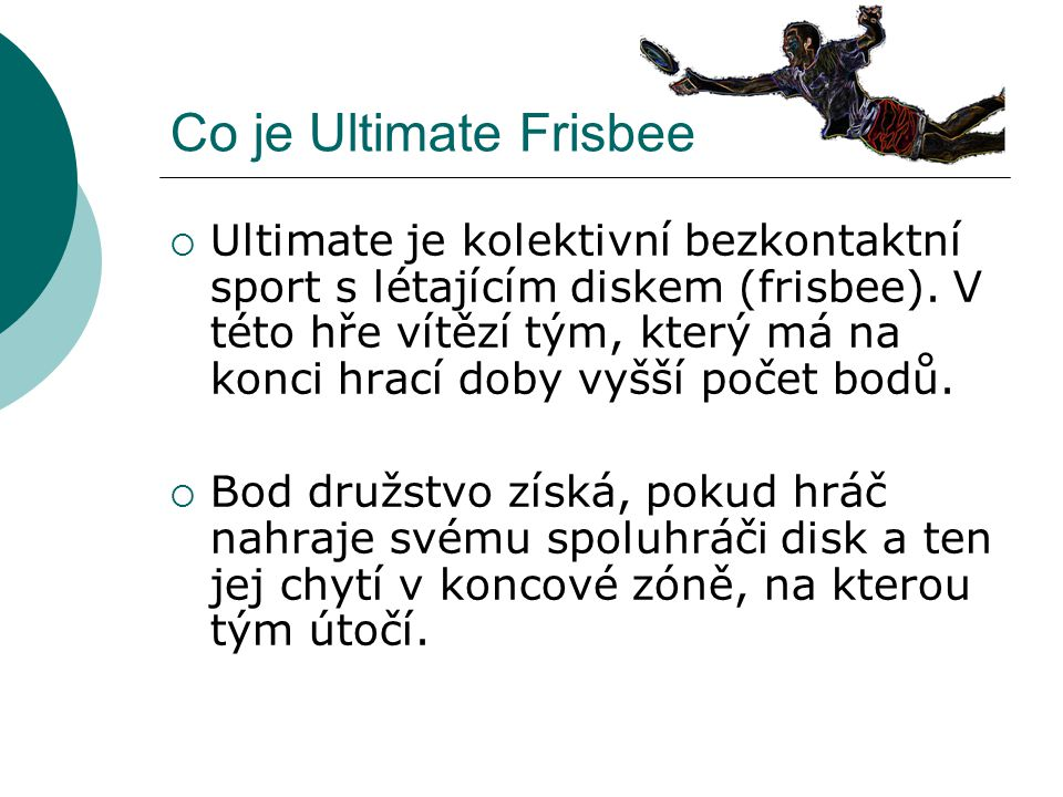 Co je Ultimate Frisbee