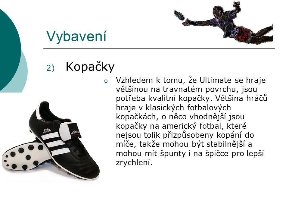 Vybavení Kopačky.