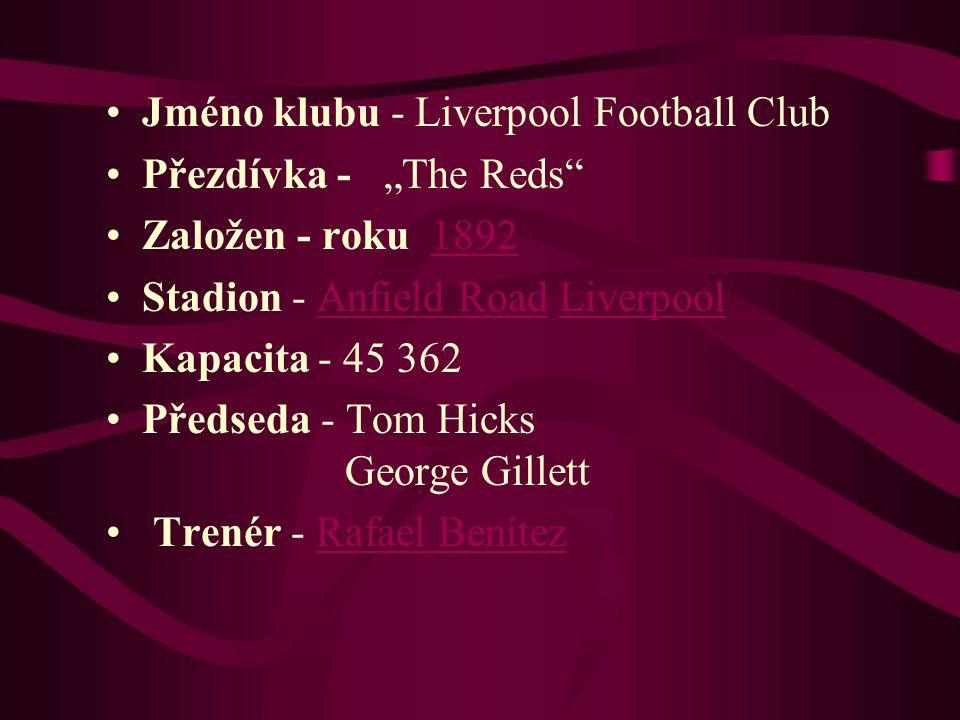 Jméno klubu - Liverpool Football Club
