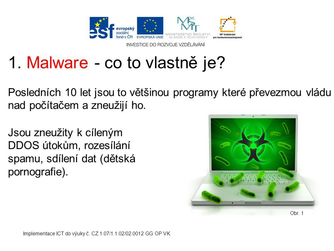 1. Malware - co to vlastně je