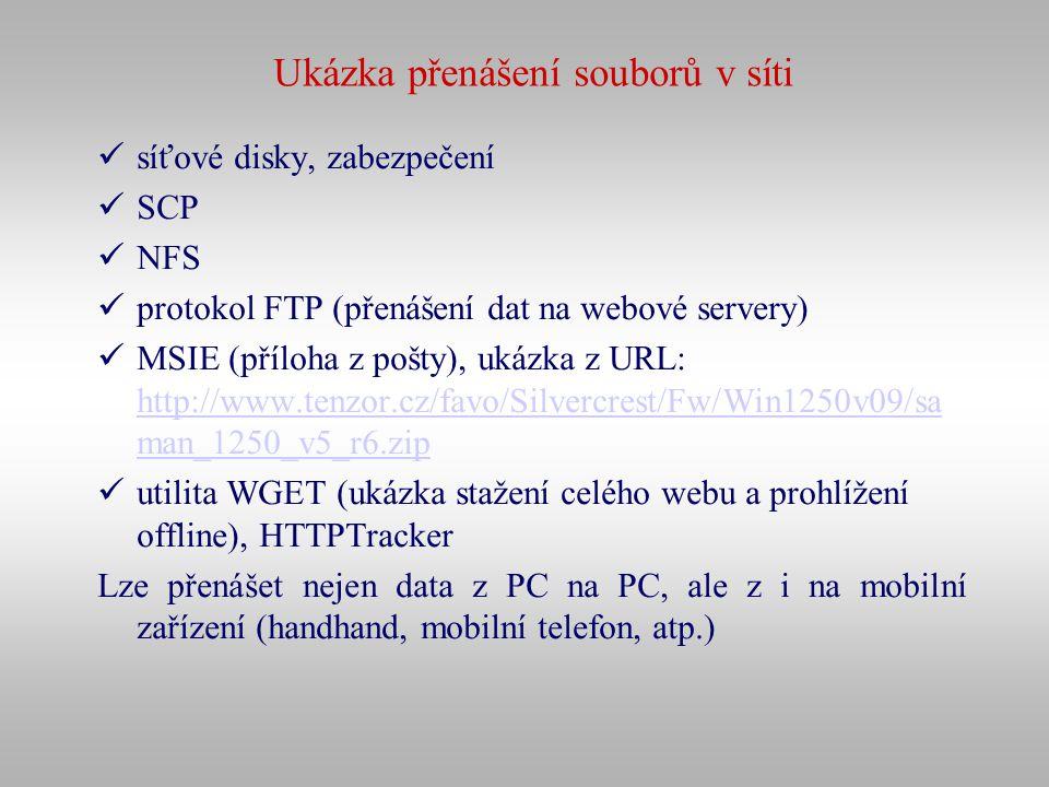 Ukázka přenášení souborů v síti