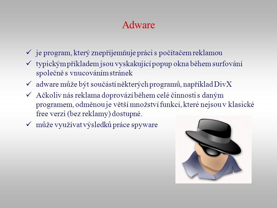 Adware je program, který znepříjemňuje práci s počítačem reklamou