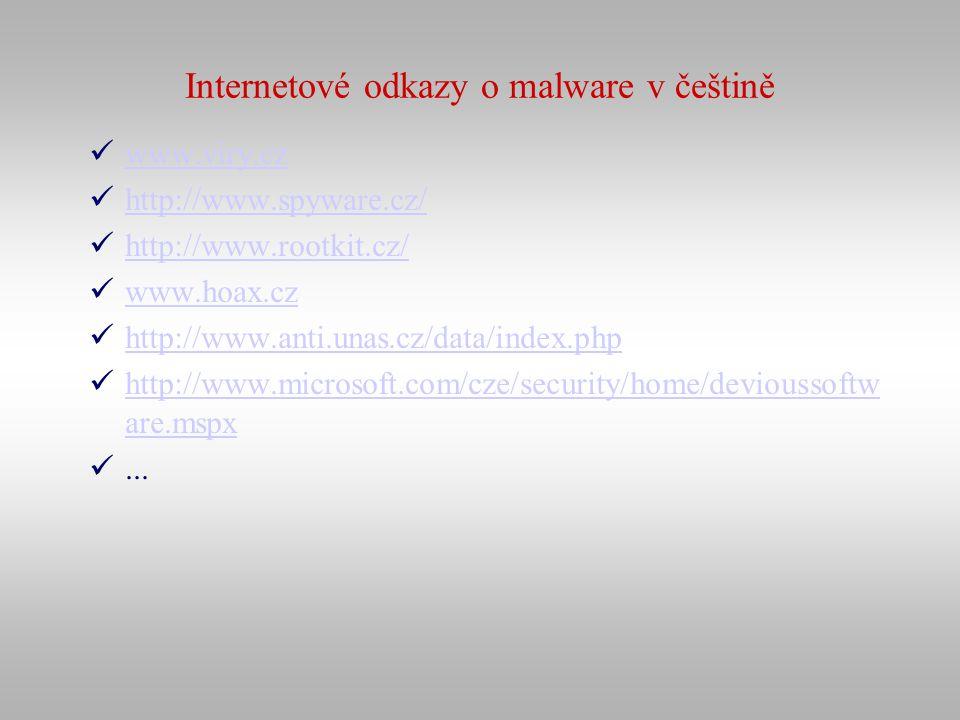 Internetové odkazy o malware v češtině