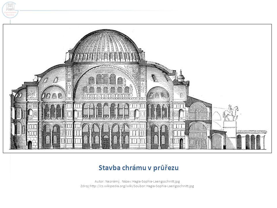 Stavba chrámu v průřezu