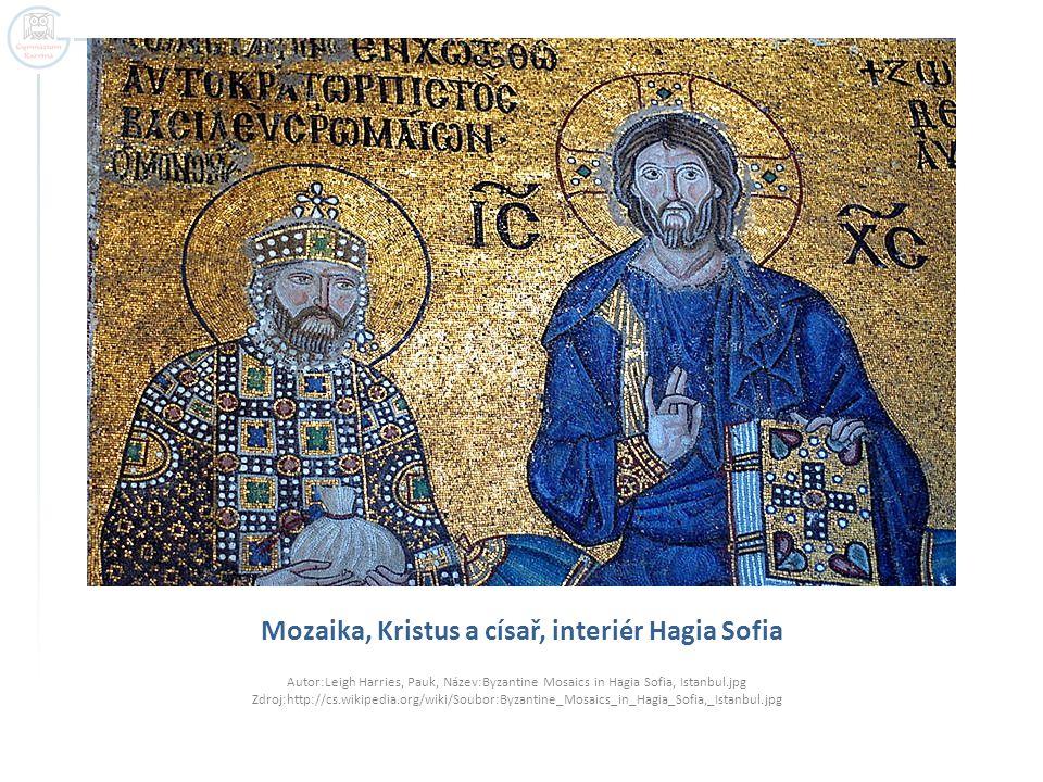Mozaika, Kristus a císař, interiér Hagia Sofia