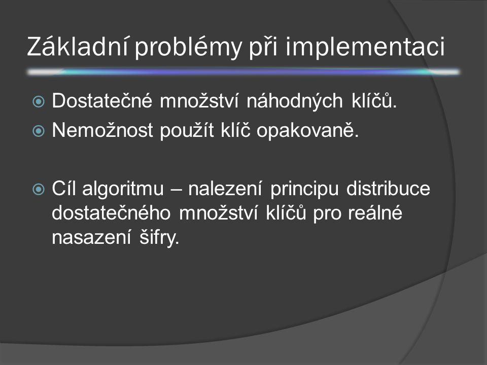Základní problémy při implementaci