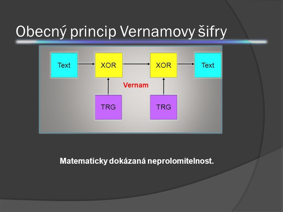 Obecný princip Vernamovy šifry