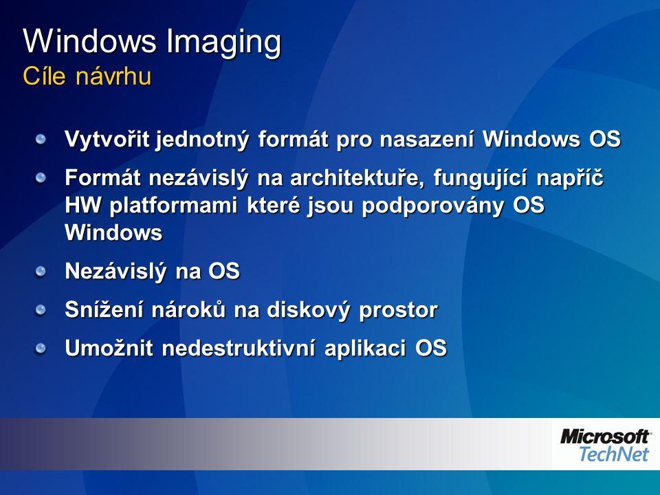 Windows Imaging Základní komponenty