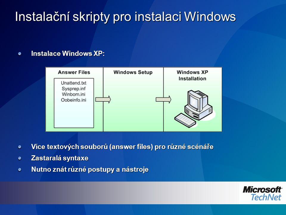 Instalační skripty pro instalaci Windows
