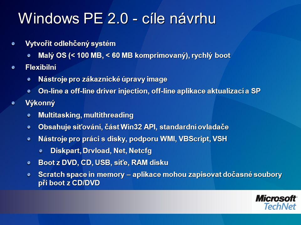 Scénáře využití Nasazení Windows Vista IBS – Image-based setup