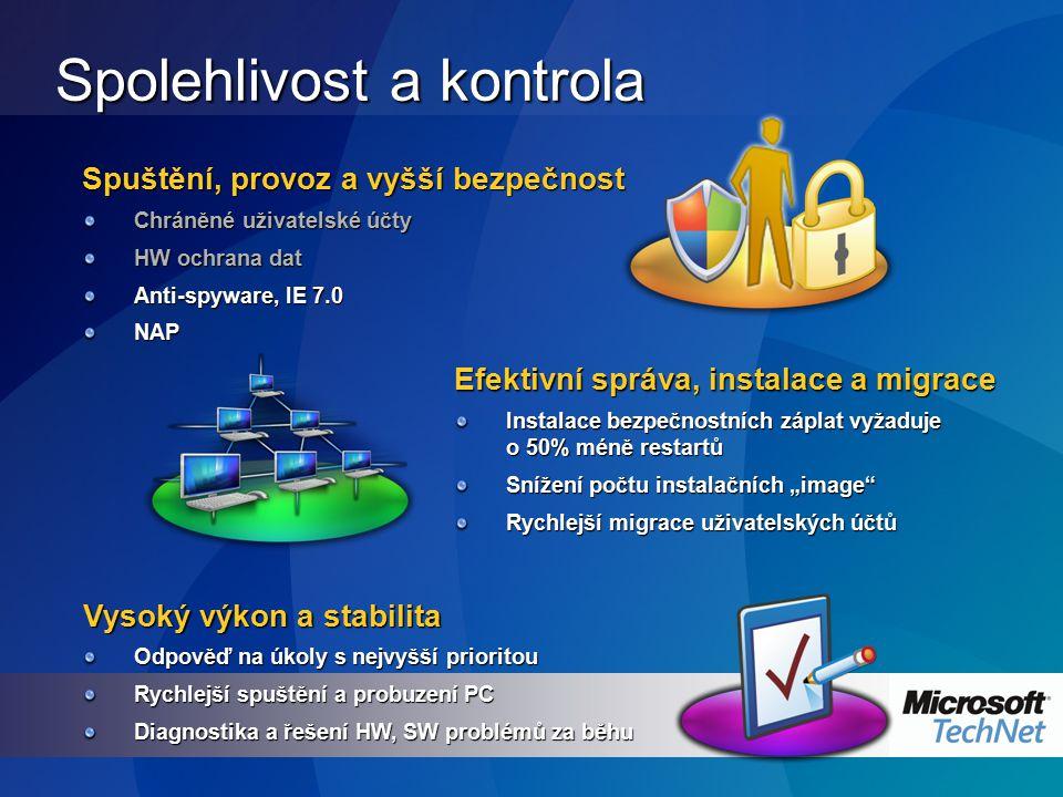 Internet Explorer 7.0 Ve spojení s technologií UAP se plánují tyto změny v IE: Protected Mode (plánováno pro Vista Beta 2),