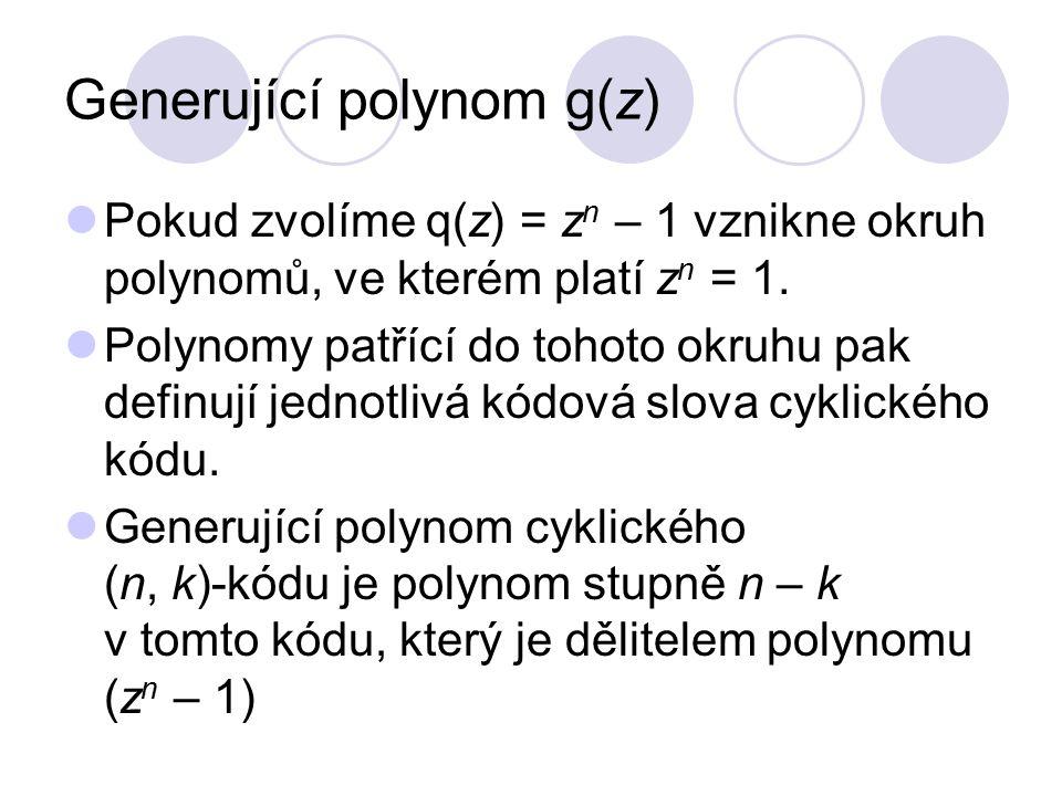 Generující polynom g(z)