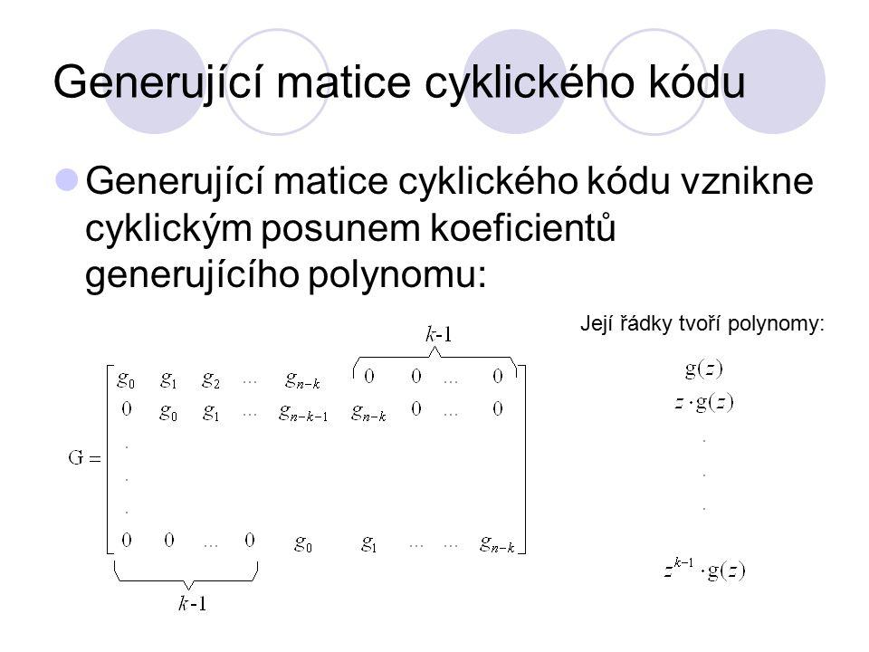 Generující matice cyklického kódu