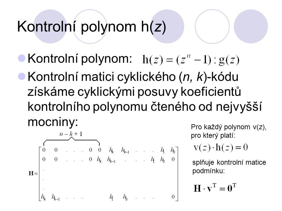 Kontrolní polynom h(z)