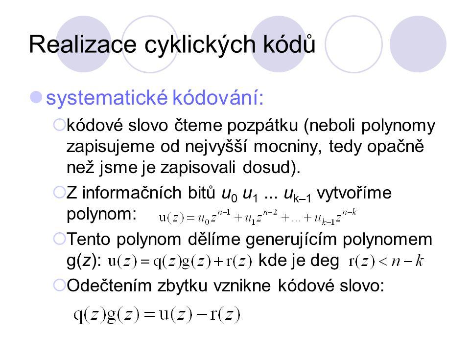 Realizace cyklických kódů