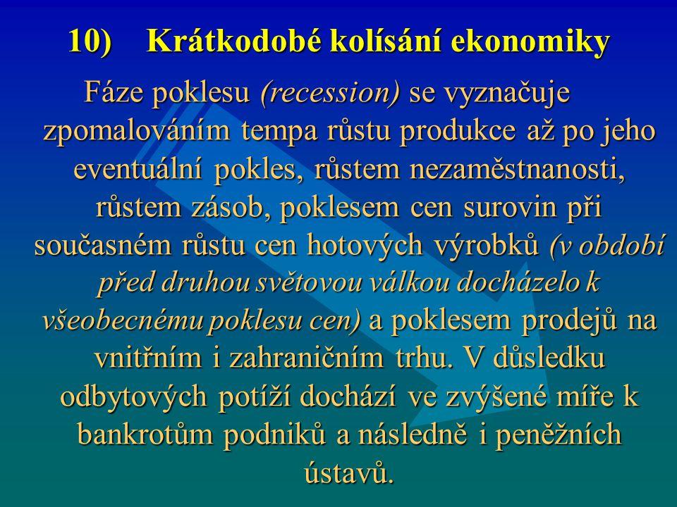 10) Krátkodobé kolísání ekonomiky