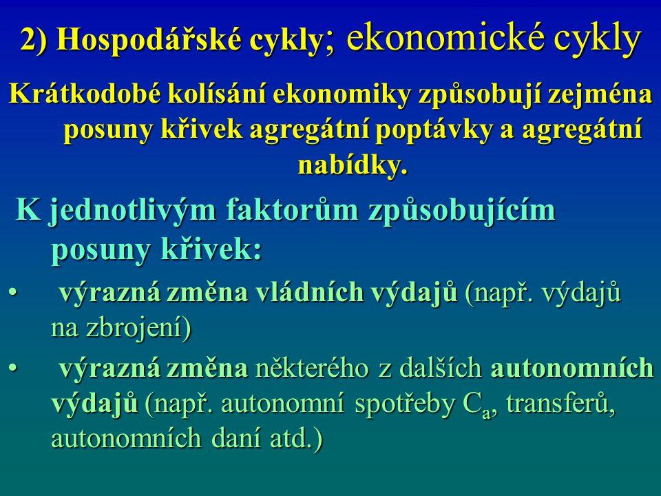 2) Hospodářské cykly; ekonomické cykly