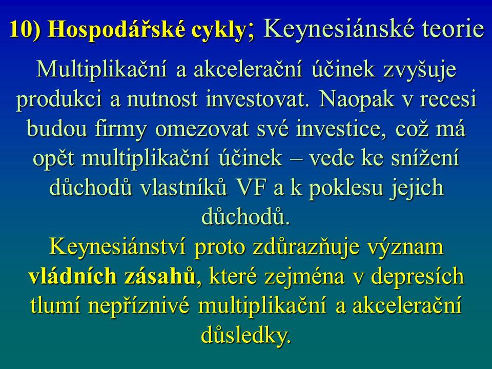 10) Hospodářské cykly; Keynesiánské teorie