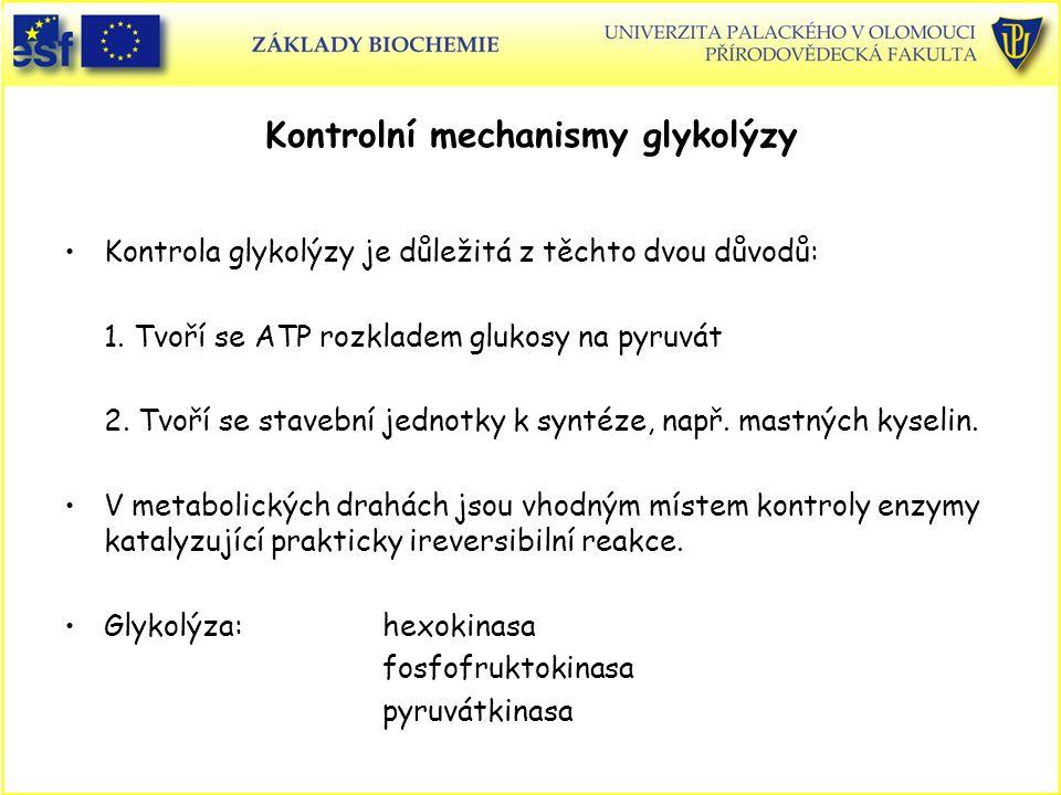 Kontrolní mechanismy glykolýzy