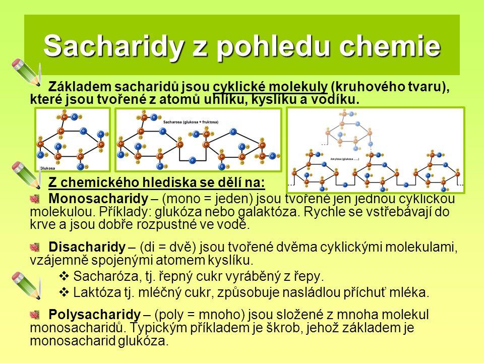 Sacharidy z pohledu chemie