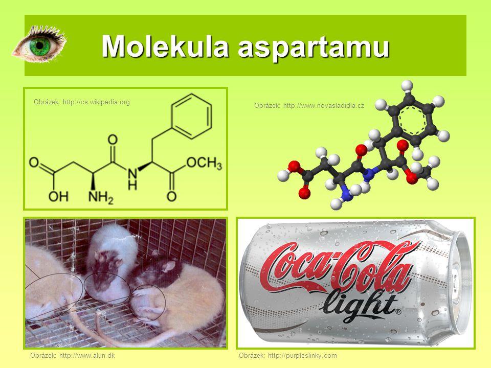 Molekula aspartamu Obrázek: http://cs.wikipedia.org