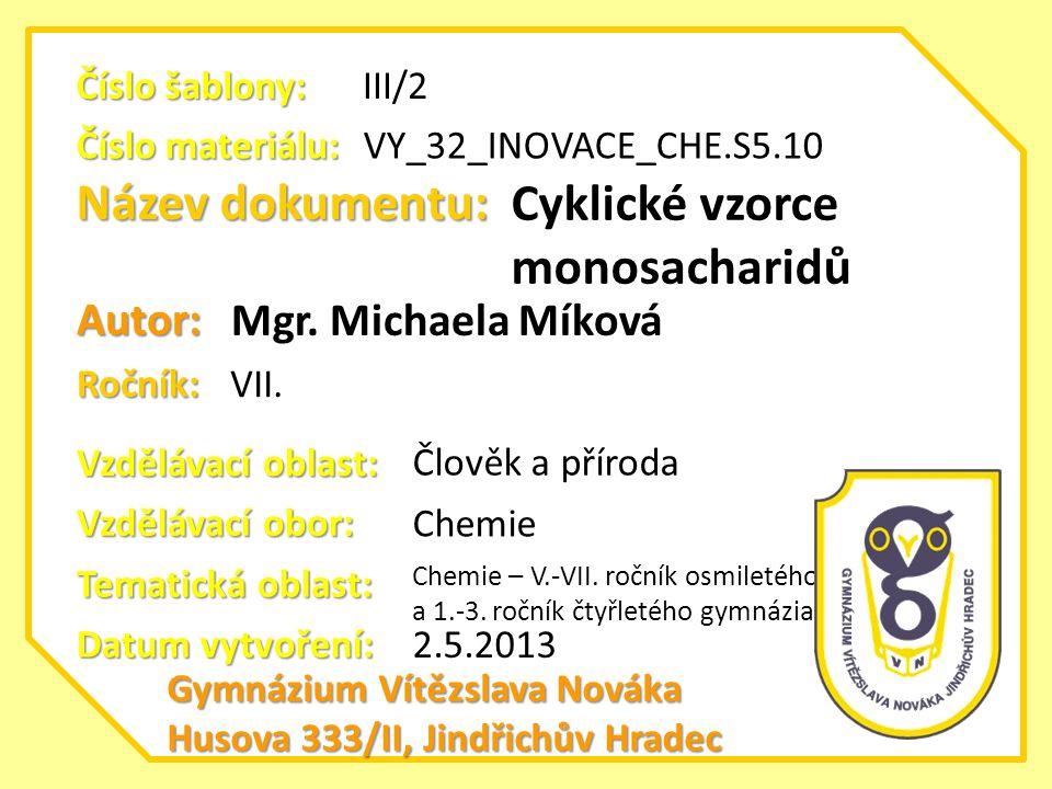 Cyklické vzorce monosacharidů