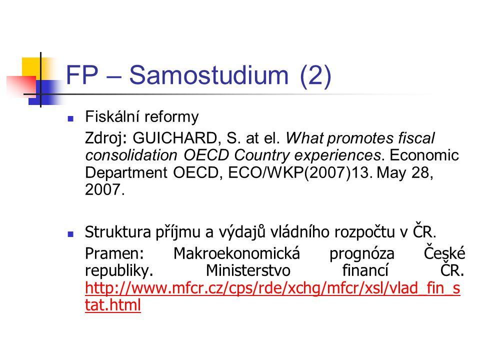 FP – Samostudium (2) Fiskální reformy