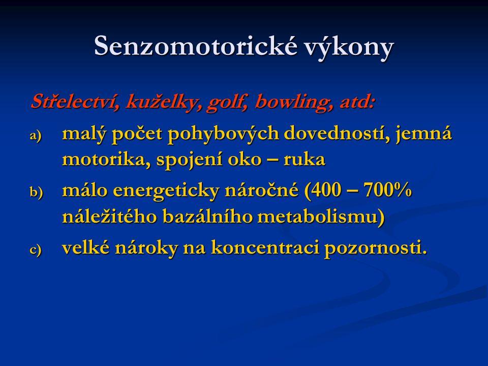 Senzomotorické výkony