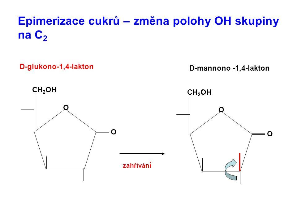 Epimerizace cukrů – změna polohy OH skupiny na C2