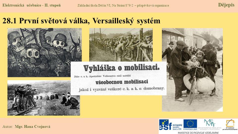 28.1 První světová válka, Versailleský systém