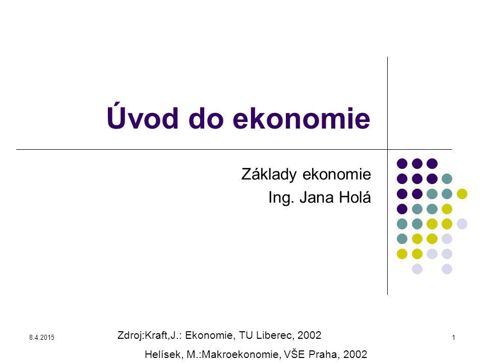 Základy ekonomie Ing. Jana Holá