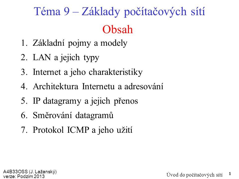 Téma 9 – Základy počítačových sítí