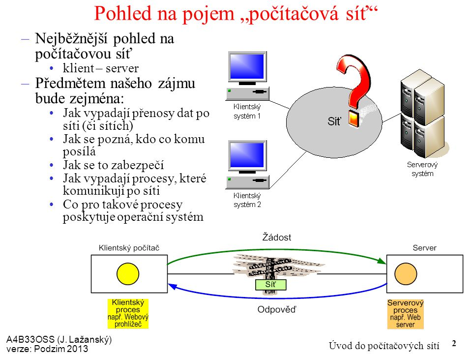 """Pohled na pojem """"počítačová síť"""