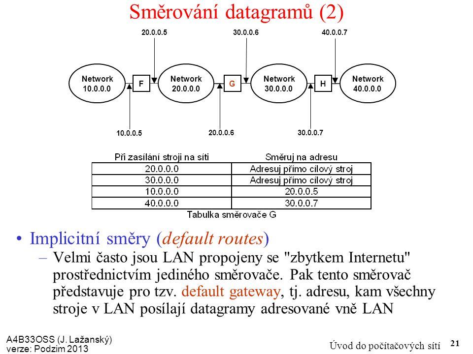Směrování datagramů (2)