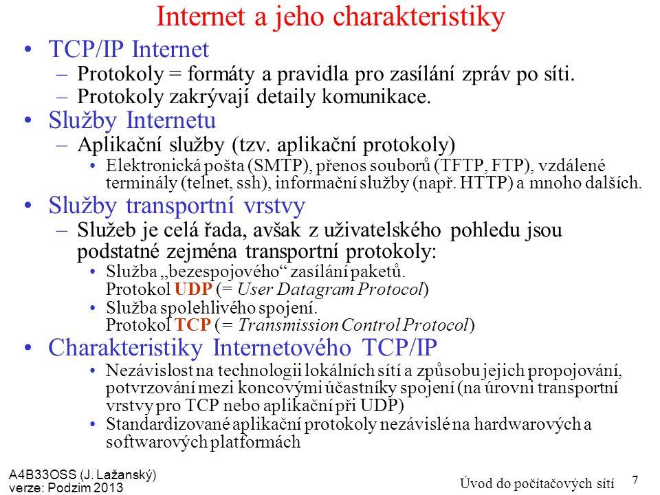 Internet a jeho charakteristiky