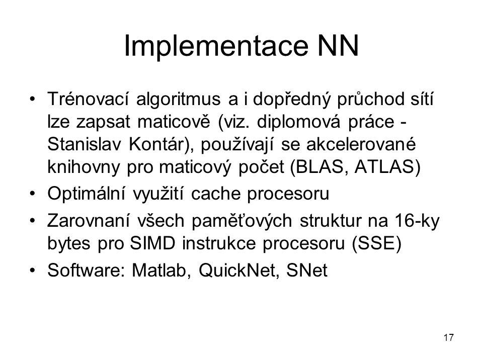 Implementace NN
