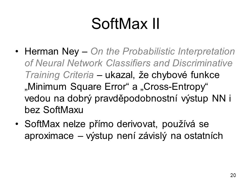 SoftMax II