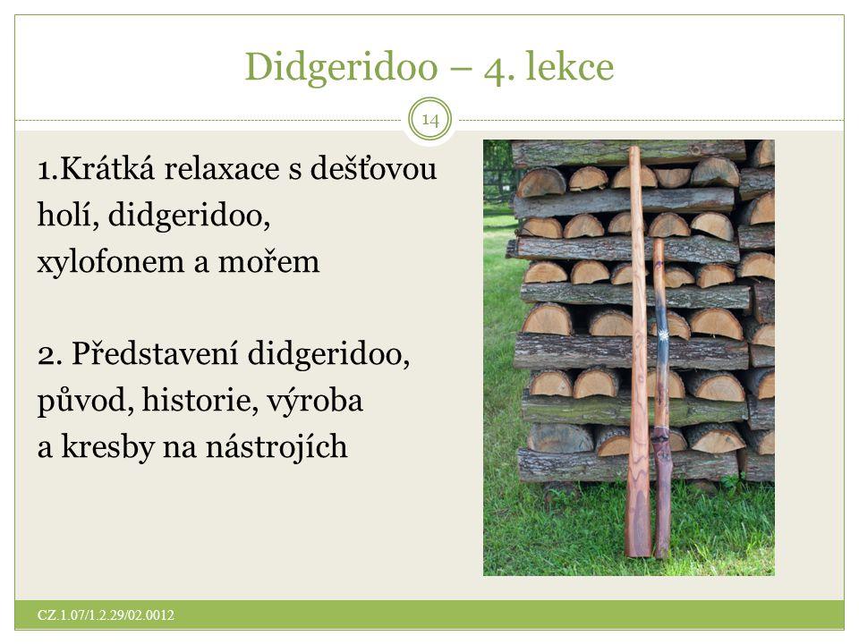 Didgeridoo – 4. lekce