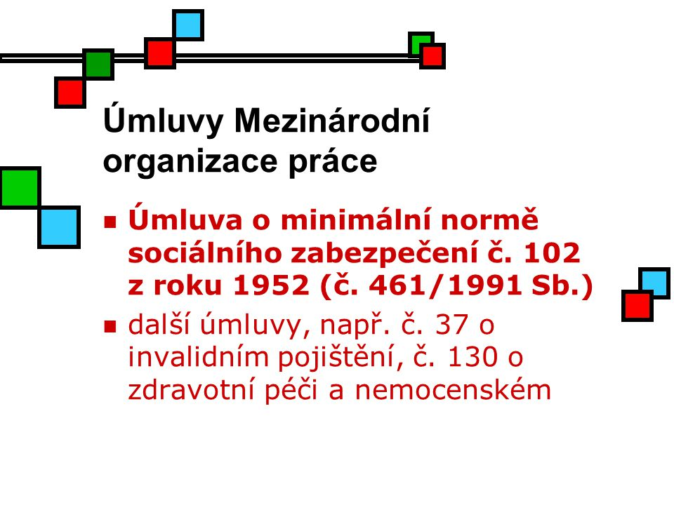 Úmluvy Mezinárodní organizace práce