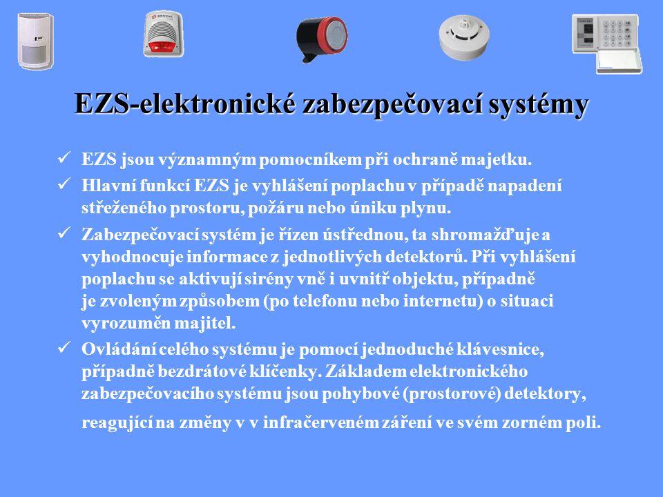 EZS-elektronické zabezpečovací systémy