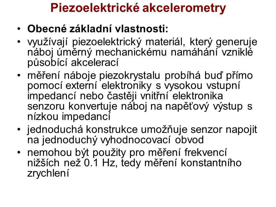 Piezoelektrické akcelerometry