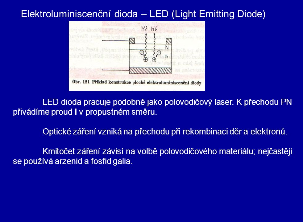 Elektroluminiscenční dioda – LED (Light Emitting Diode)