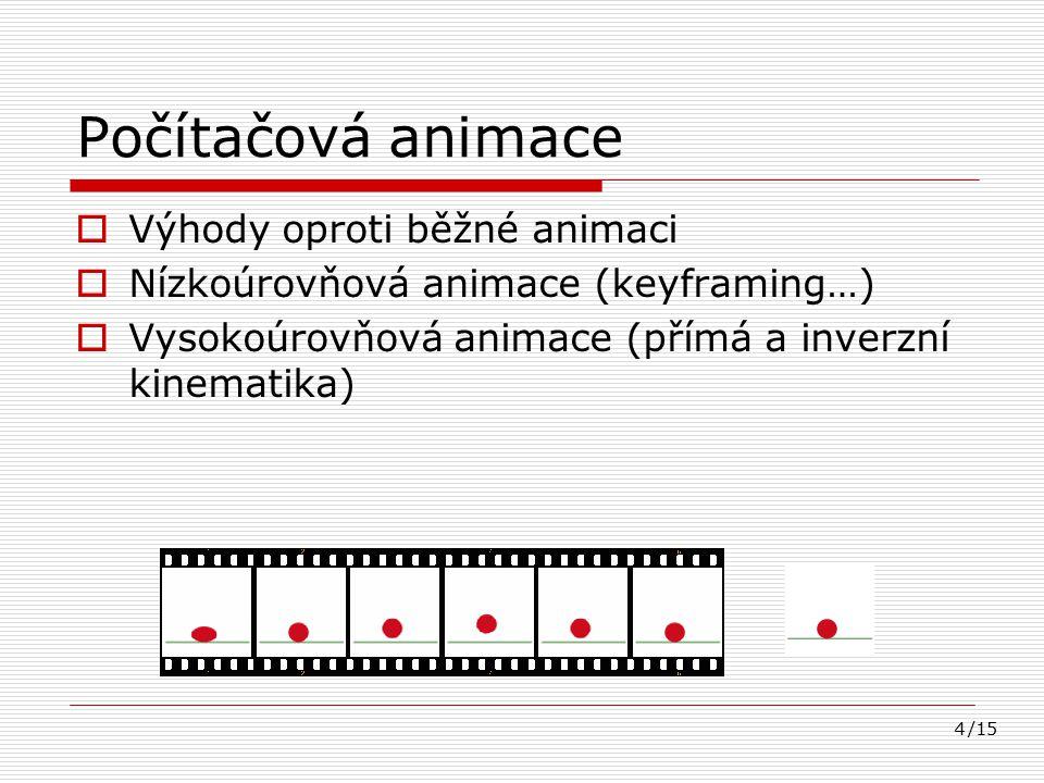 Počítačová animace Výhody oproti běžné animaci