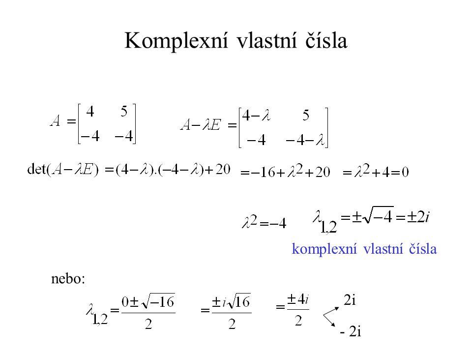 Komplexní vlastní čísla